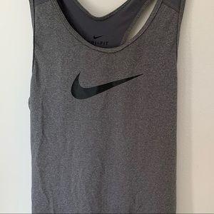 Nike Grey Athletic Tank Top